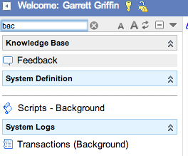 Finding Background Scripts