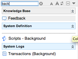 Navigating to Background Scripts