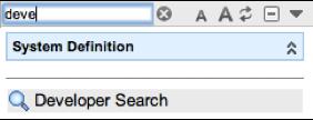 Developer Search Left Nav